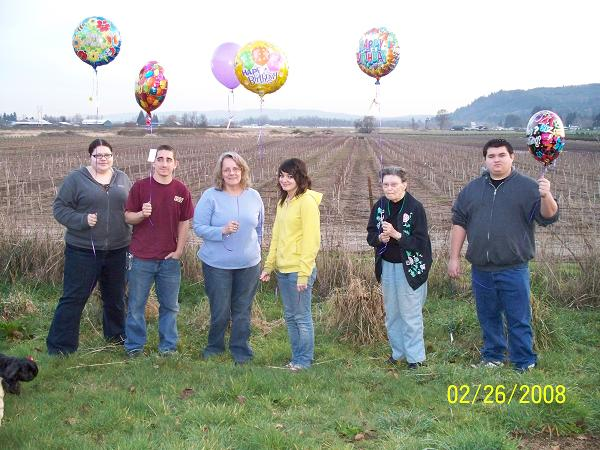 Balloons released by family in Oregon